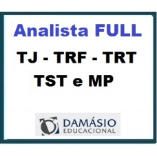 Analista Full Damásio 2019 -    TJ | TRF | TRT | TST e MP