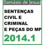 Peças e Sentenças Civil e Criminal 2014-1