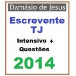 TJ Escrevente Intensivo + Questões -  2014 (Todos TJ)
