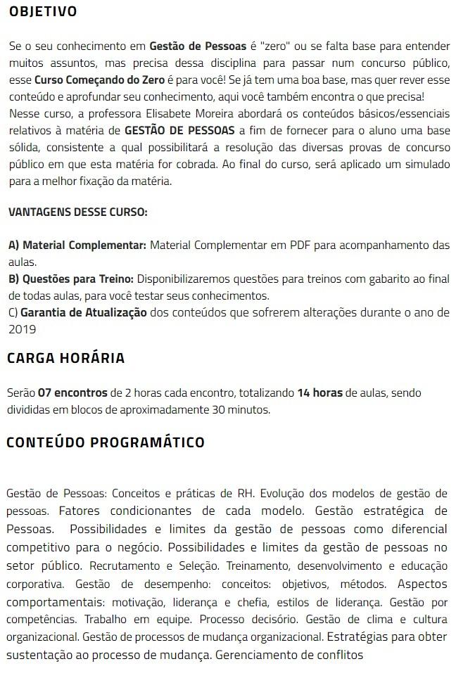 Gestão de Pessoas - Começando do Zero (CERS 2019) 4