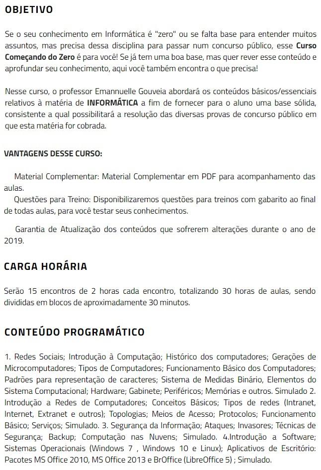 Informática - Começando do Zero (CERS 2019) 4