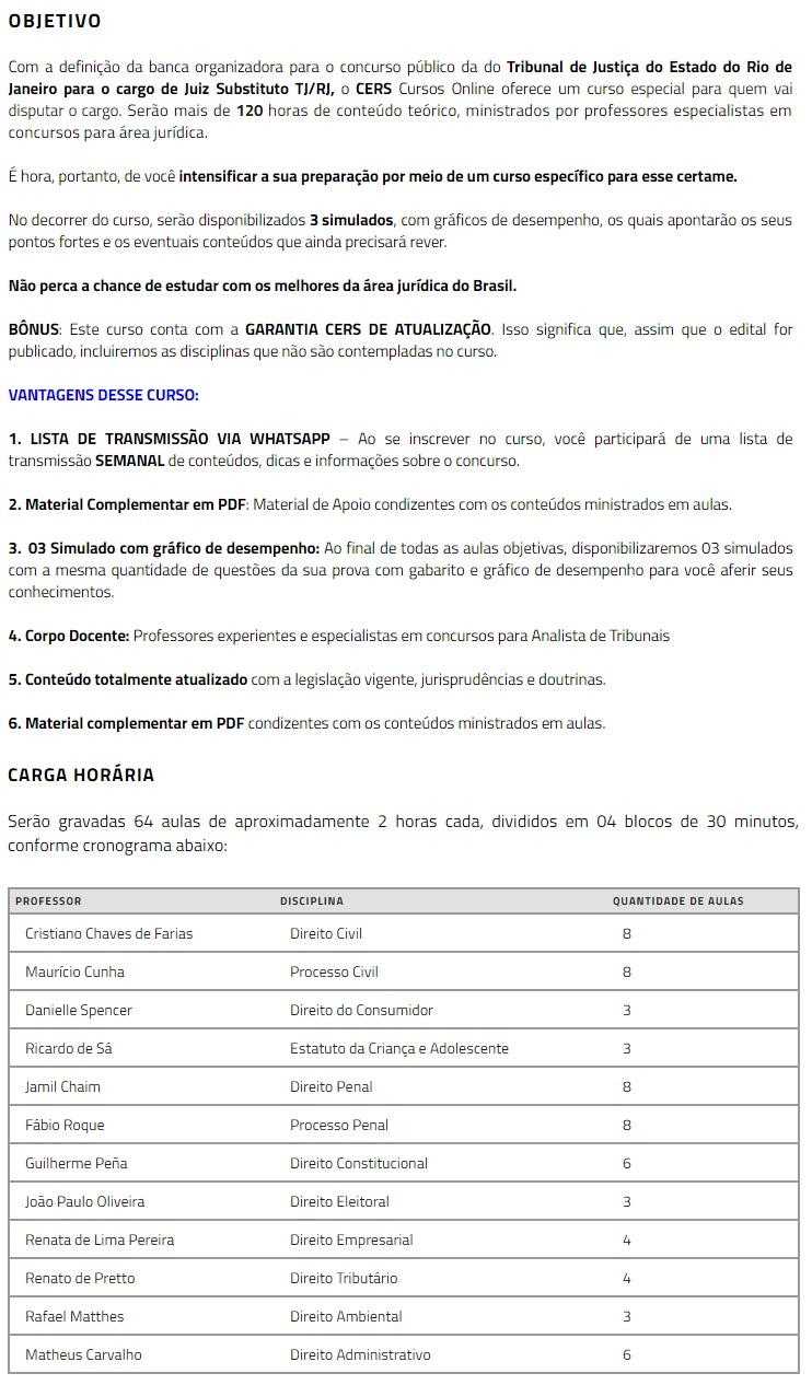TJ RJ - Juiz Substituto (CERS 2019.2) Tribunal de Justiça do Rio de Janeiro 4