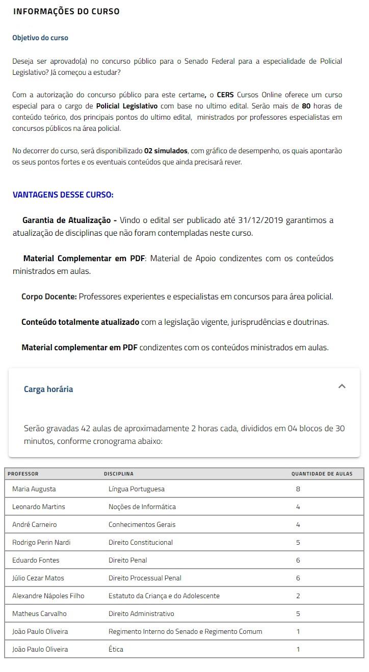 SENADO FEDERAL - Polícia Legislativa (CERS 2019.2) Policial Legislativo 3