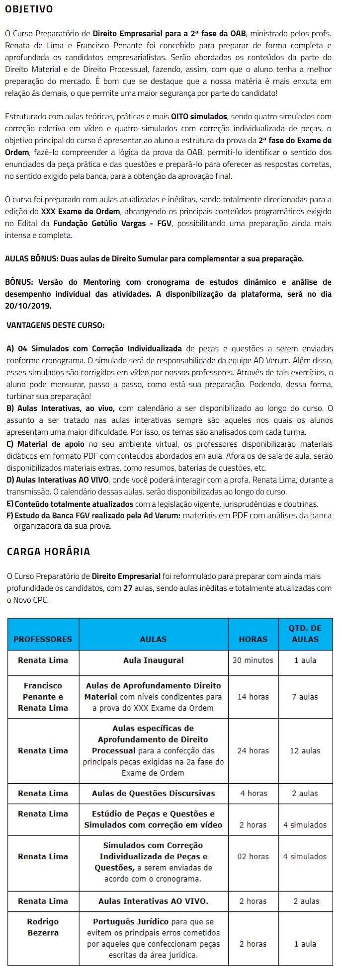 2 Fase OAB XXX (30º) Exame - DIREITO EMPRESARIAL Repescagem (CERS 2019) 4