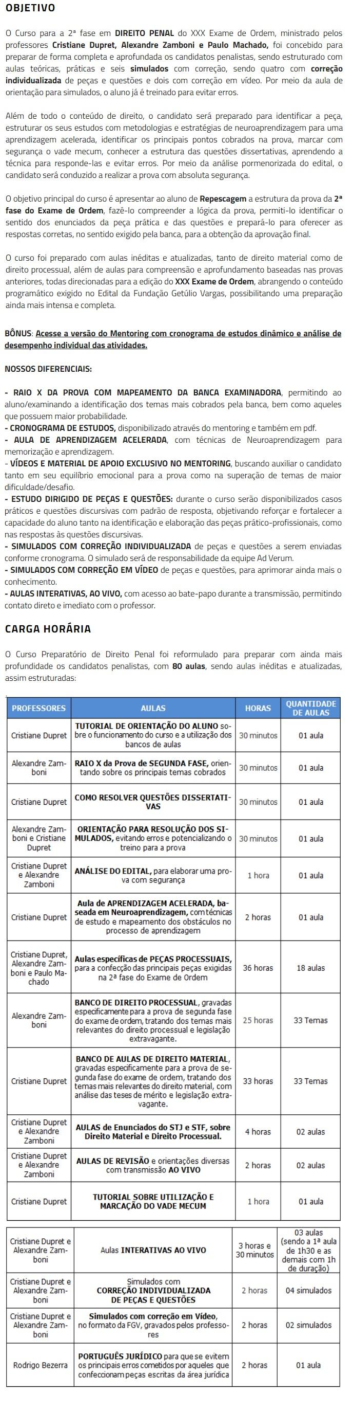 2 Fase OAB XXX (30º) Exame - DIREITO PENAL Repescagem (CERS 2019) 4