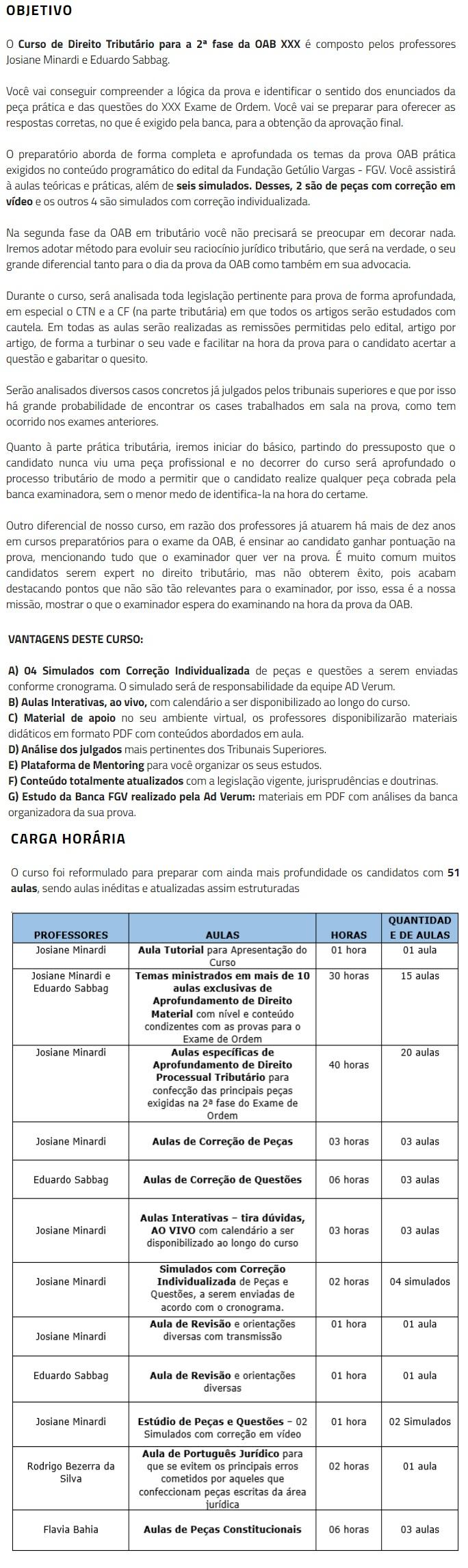 2 Fase OAB XXX (30º) Exame - DIREITO TRIBUTÁRIO Repescagem (CERS 2019) 4