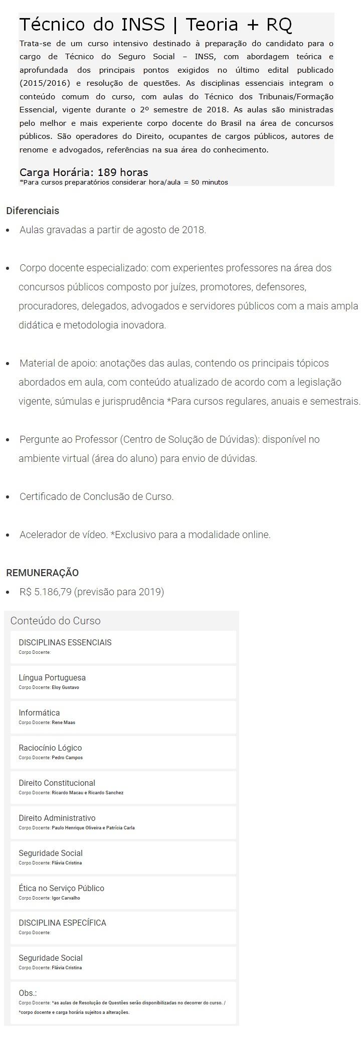 INSS Técnico do Seguro Social (Teoria + Questões) - DAMÁSIO 2019 4